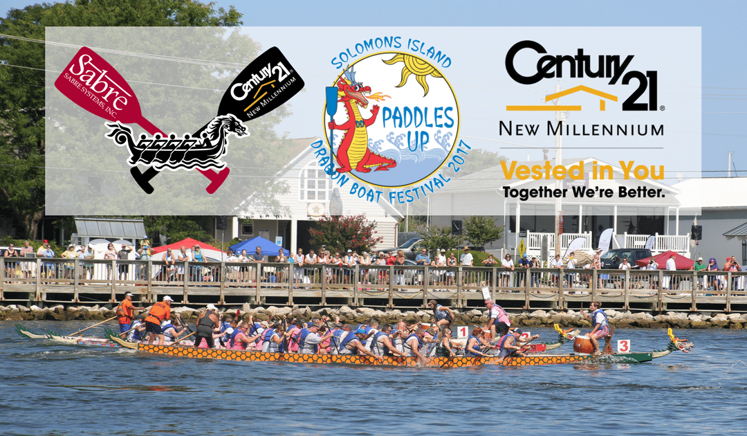 CENTURY 21 New Millennium Paddles for Charity at Solomons Island Dragon Boat Festival