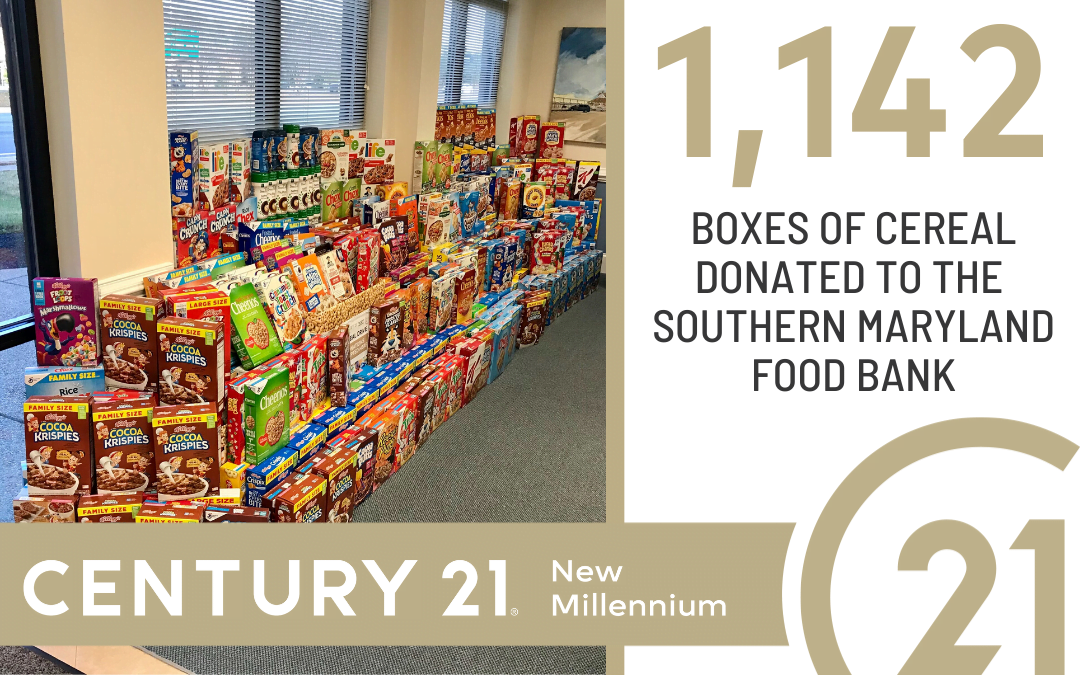 Southern Maryland Branches Collect 1,142 Boxes of Cereal for Southern Maryland Food Bank