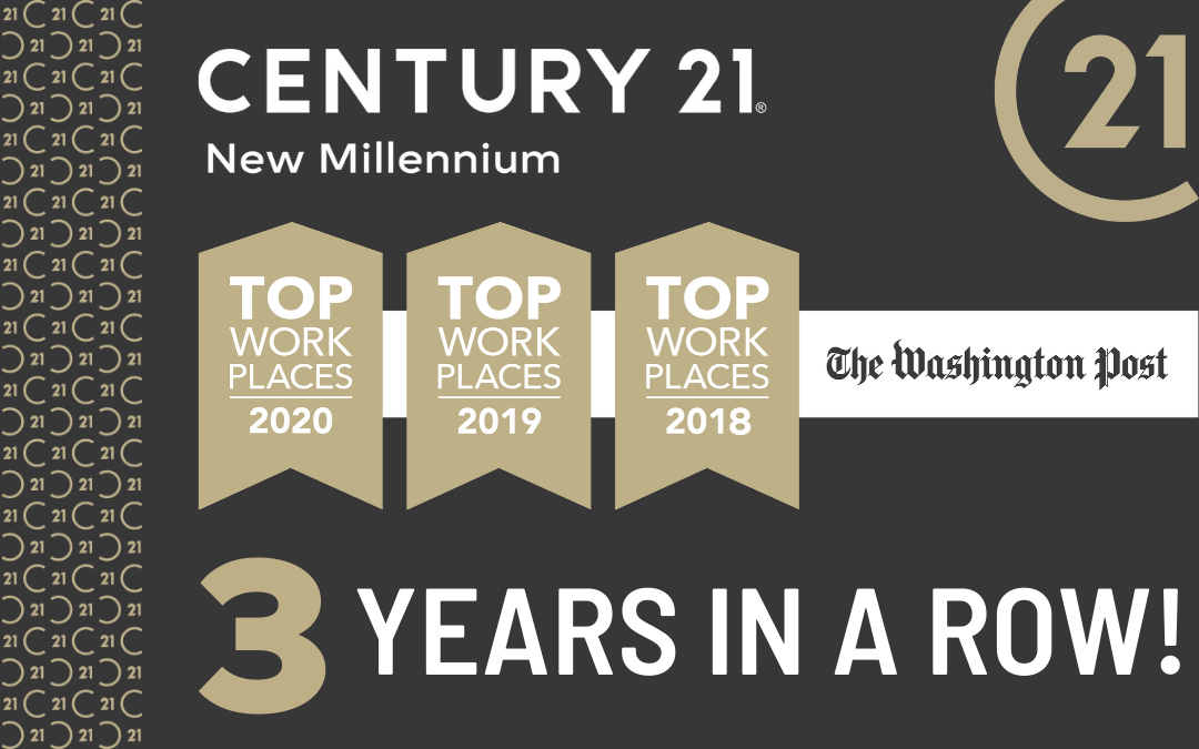 The Washington Post Names CENTURY 21 New Millennium a 2020 Top Washington-Area Workplace for Third Consecutive Year